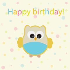 Vector greeting card on the theme of the birthday celebration.