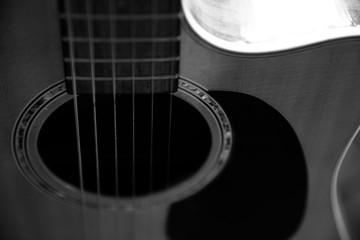 Acoustic Guitar in Black & White