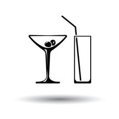 Coctail glasses icon