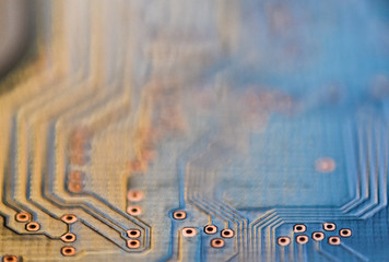 Abstract micro chip cyber circuit modern technology background