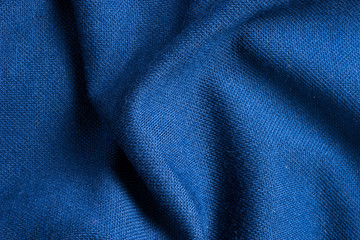 Texture and background of blue polyester fabric so beautiful. Fototapete