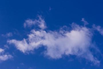 clouds nature in blue sky