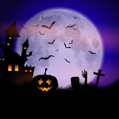 Fototapete - Spooky Halloween background