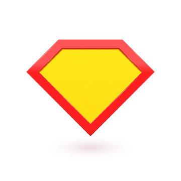 Super hero comic character label emblem