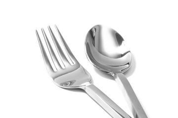 knife and fork isolated