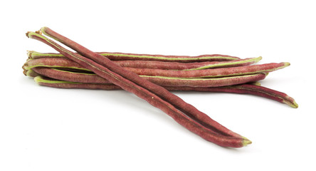 purple bean isolated
