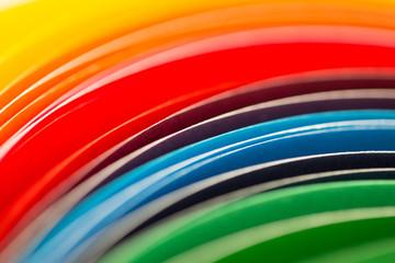 Fototapeta Kolorowa tęcza z kartek papieru