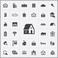 real estate icons universal set