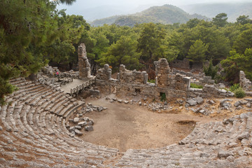 Ruins of the ancient city of Phaselis, Turkey