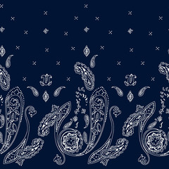 Ornamental seamless paisley pattern. Wrapping print. Floral ornamental motif