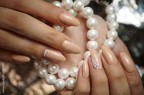Beautiful Nails Manicure Nail Art Hand Stock Photo And Royalty