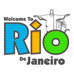 Poster, Banner with Text Rio de Janeiro.
