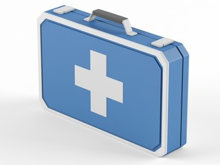First aid box on a white background.