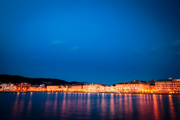 the lights of the city of Trieste