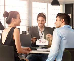 Young couple at financial advisor