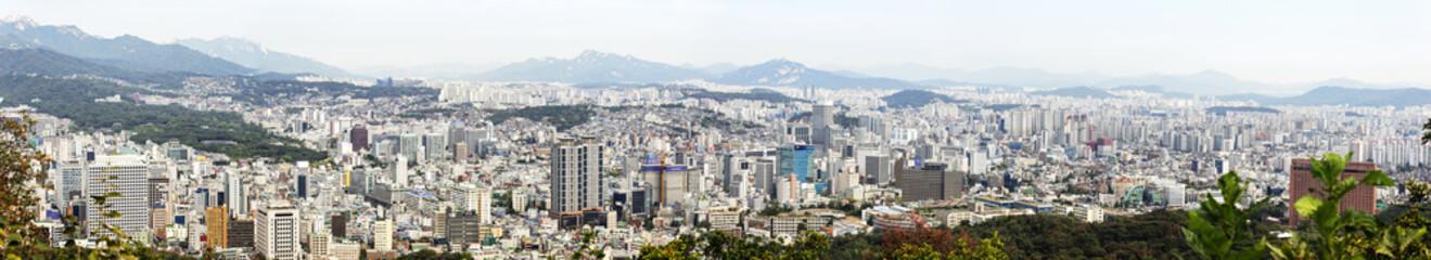 Seoul City Skyline ,view of South Korea.