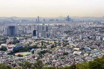 Seoul City Skyline ,view of South Korea.