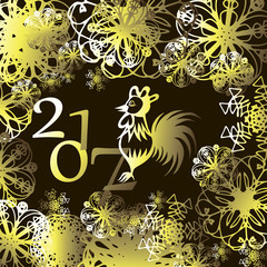 with the New year of the rooster 2017