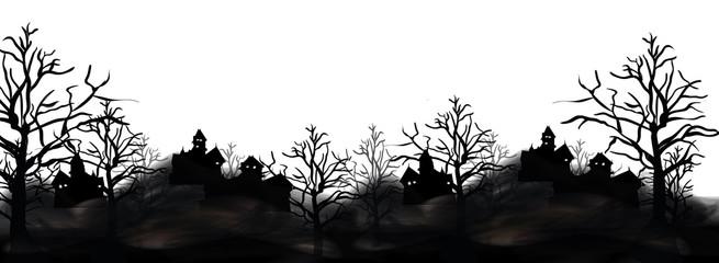 Halloween Landschaft Hintergrund