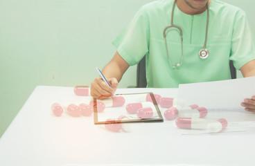 Doctor analyzing medical EKG