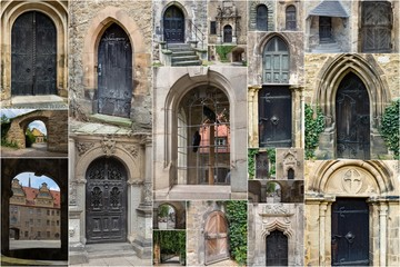 collection of historic doors