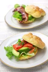 cloud bread ( no carb bread ) sandwich