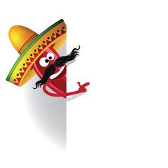 Cartoon Mexican Jalapeno background. EPS 10 vector.
