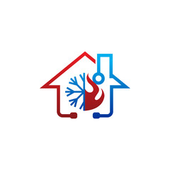 Climate Doctor HVAC Logo Icon