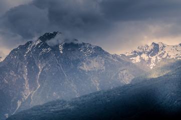 mountain scenery, mountains of Valle d'Aosta, Italian Alps.
