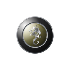Metalic Dragon Emblem Logo