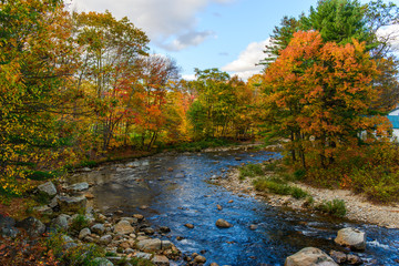 New Hampshire Stream with Fall Foliage