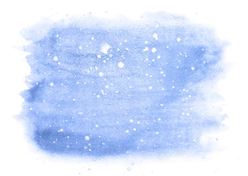 Winter watercolor background