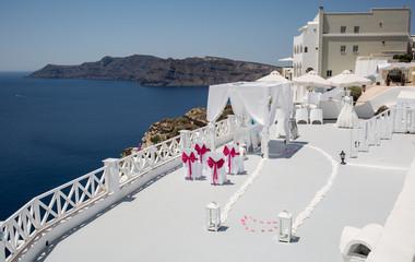 Wedding place in Santorin
