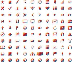 100 Icons Web Gradient Rainbow