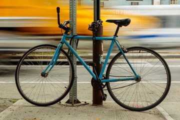 Bicycle slow shutter speed