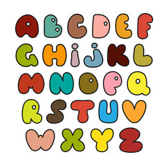 Hand drawn alphabet made in vector.