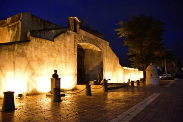 Santo Domingo, Dominican Republic. View of Puerta Del Conde in the night, Count Door.