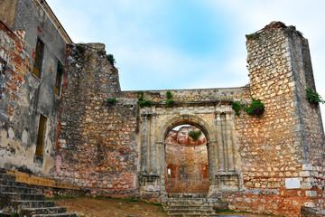 Santo Domingo, Dominican Republic. Monumento Ruinas de San Francisco, Monastery of San Francisco.