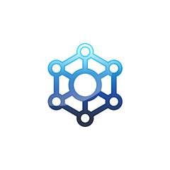 Modern Technology Logo Vector Image Icon