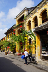 Yellow building in ancient Hoi An