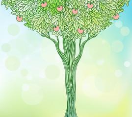 Vintage illustration of a tree