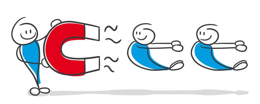 Stick Figure Series Blue / Kundenbindung, Karisma