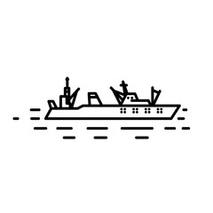 Flat linear seiner illustration