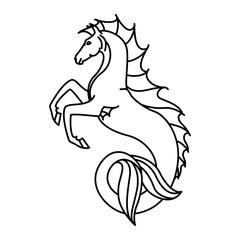 Flat linear hippocampus illustration