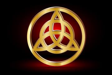 Triquetra symbol ,