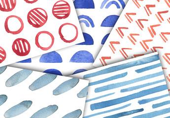 Watercolor Vision Patterns Set