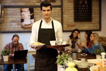 Waiter working