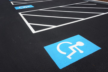 handicap sign on the road surface