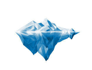 beautiful polygonal iceberg on white background