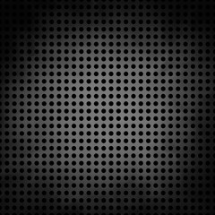 black vector with circles or dotted grid, silver gray center and dark black border, construction material or metal plate concept